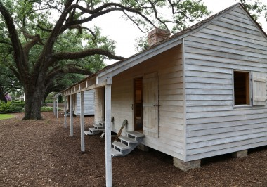 White Washed Slave Cabins